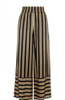Укороченные брюки из вискозы в полоску By Malene Birger