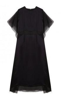 Полупрозрачное платье-миди свободного кроя Maison Margiela