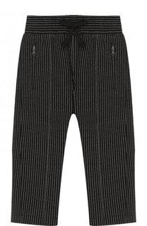 Хлопковые брюки прямого кроя на кулиске Dolce & Gabbana