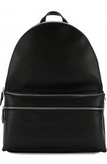Кожаный рюкзак с внешним карманом на молнии Dsquared2