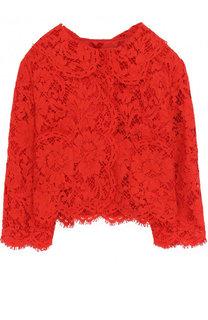 Укороченная кружевная блуза Dolce & Gabbana