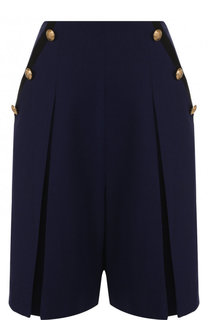 Шерстяные шорты с карманами и стрелками Lanvin
