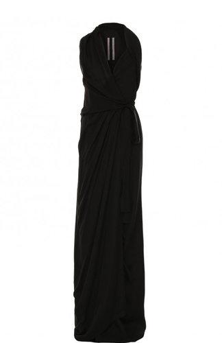 Приталенное шелковое платье-макси без рукавов Rick Owens