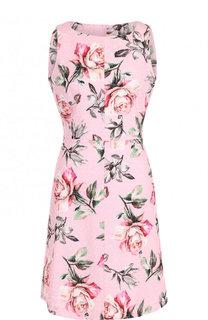 Хлопковое приталенное мини-платье с цветочным принтом Weill