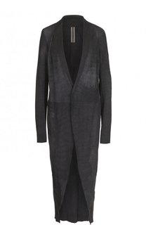 Однотонное кожаное пальто Rick Owens