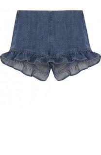 Джинсовые шорты с оборками Il Gufo