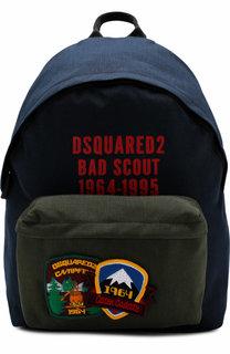 Текстильный рюкзак с нашивками Dsquared2