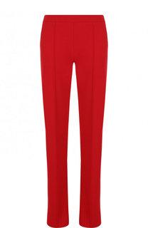 Однотонные брюки прямого кроя из вискозы Valentino