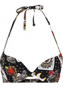 Бра с контрастным принтом Dolce & Gabbana