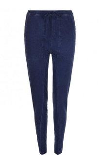 Однотонные хлопковые брюки-скинни Roque