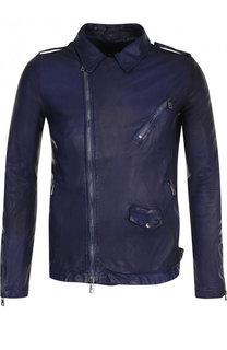 Кожаная куртка на молнии Giorgio Brato