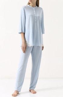 Однотонная пижама с кружевной отделкой Gianantonio Paladini