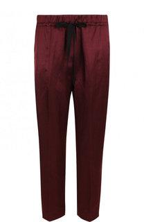 Укороченные брюки из смеси вискозы и льна Forte_forte
