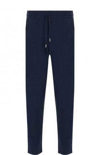 Шерстяные брюки с поясом на кулиске Canali
