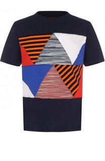 Хлопковая футболка с нашивками Missoni