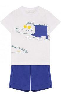 Хлопковый комплект из футболки и шорт Il Gufo