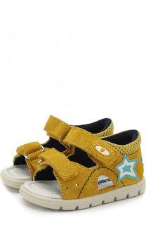 Замшевые сандалии с застежками велькро Falcotto