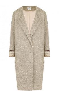 Пальто из смеси льна и хлопка с накладными карманами Forte_forte