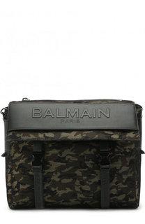 Текстильная сумка с логотипом бренда Balmain
