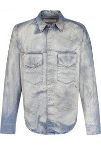 Рубашка из денима с потертостями Golden Goose Deluxe Brand