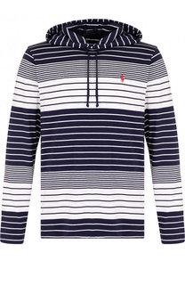 Хлопковое худи в полоску Polo Ralph Lauren