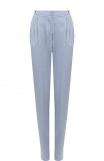 Однотонные шелковые брюки с защипами Giorgio Armani