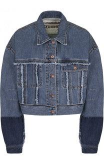 Укороченная джинсовая куртка с потертостями Acne Studios