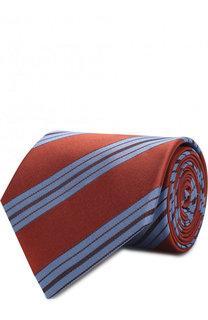 Шелковый галстук в полоску Lanvin