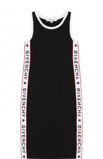 Хлопковый сарафан приталенного кроя с контрастной отделкой Givenchy