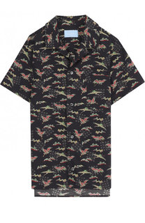 Хлопковая рубашка с принтом Lanvin