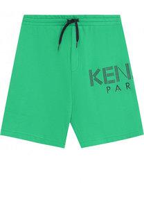 Хлопковые шорты на кулиске Kenzo