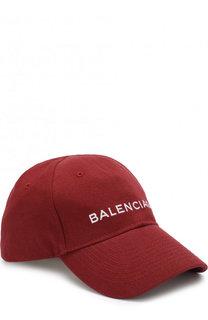 Хлопковая бейсболка с логотипом бренда Balenciaga