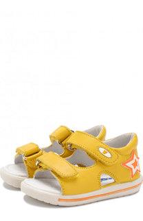 Кожаные сандалии с застежками велькро Falcotto