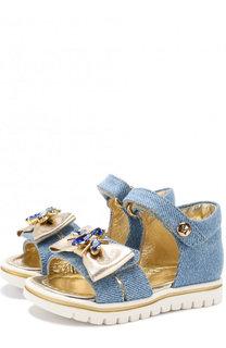 Текстильные сандалии с застежками велькро и декором Missouri