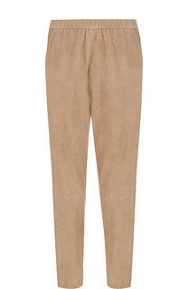 Укороченные замшевые брюки с эластичным поясом DROMe