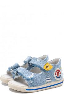 Текстильные сандалии с застежками велькро Falcotto