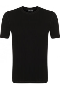 Однотонная футболка с круглым вырезом Giorgio Armani