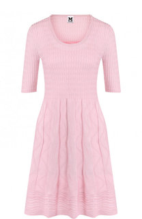 Приталенное вязаное мини-платье с коротким рукавом M Missoni