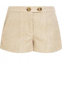 Жаккардовые мини-шорты с карманами REDVALENTINO