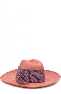 Соломенная шляпа с плетеной лентой Artesano