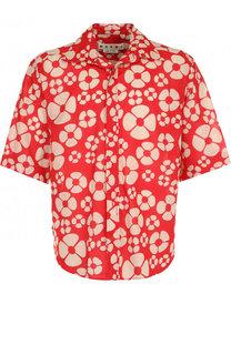 Хлопковая рубашка с принтом Marni