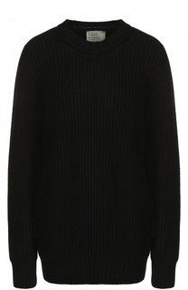 Однотонный кашемировый пуловер с круглым вырезом Hillier Bartley