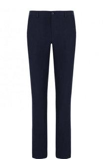 Льняные брюки прямого кроя Giorgio Armani