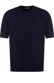 Хлопковый джемпер с короткими рукавами Dolce & Gabbana
