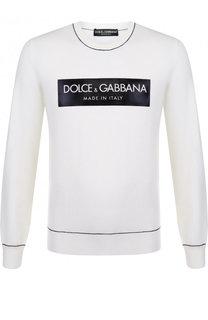 Шерстяной джемпер с принтом Dolce & Gabbana