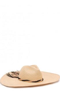 Соломенная шляпа с плетеной тесьмой Artesano