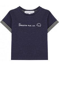 Хлопковая футболка с вышивкой Tartine Et Chocolat