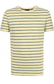 Льняная футболка в полоску Baldessarini