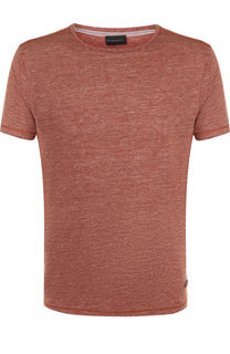 Льняная футболка с круглым вырезом Baldessarini