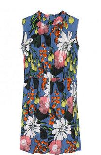 Мини-платье из смеси вискозы и шелка Marni